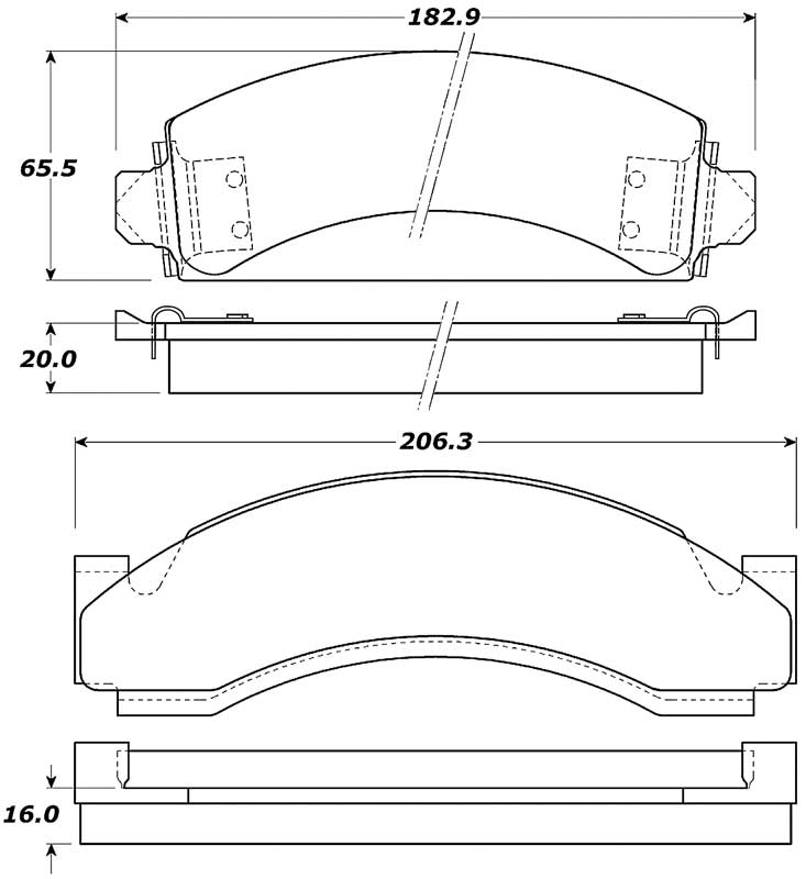 1977-94 GM Truck Posi-Quiet Extended Wear Brake Pads