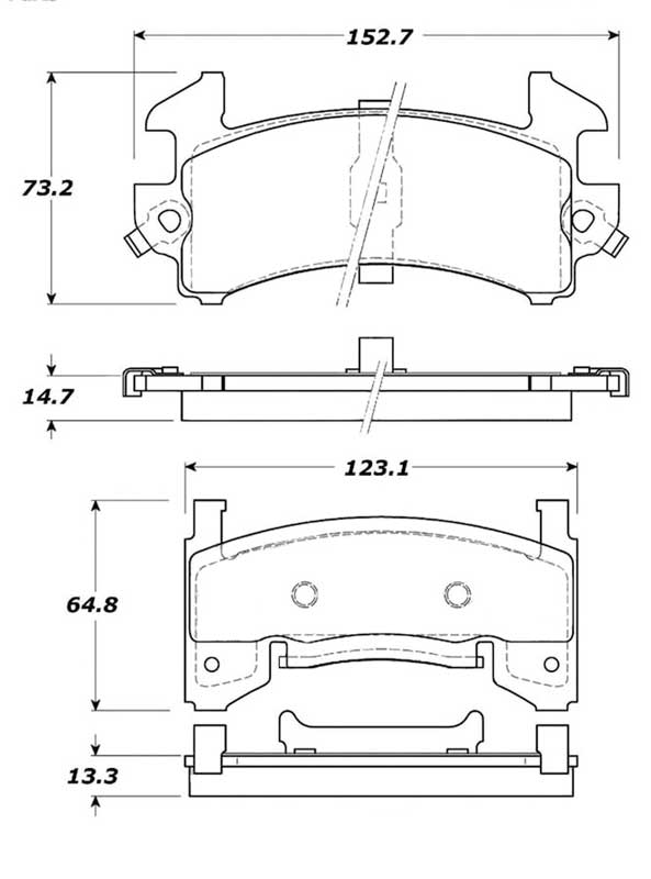 1978-2002 GM Cars & Trucks - Posi-Quiet Semi-Metallic Front Disc Brake Pad Set