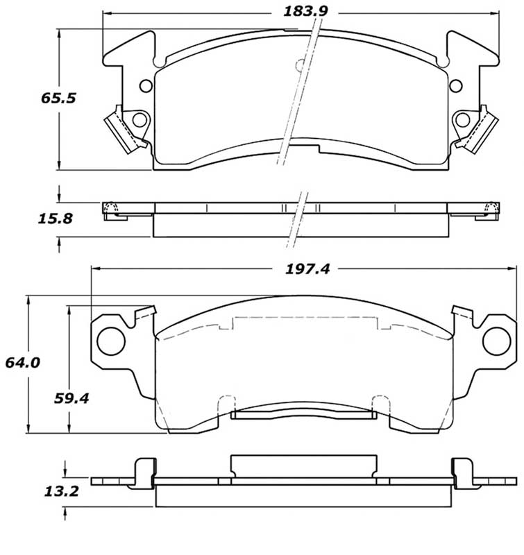 1969-96 GM Cars & Trucks - Posi-Quiet Semi-Metallic Front Disc Brake Pad Set