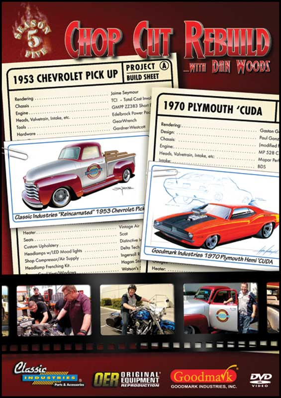 Chop Cut Rebuild Season 5 DVD 1953 Chevy Pick Up / 1970 Plymouth Cuda