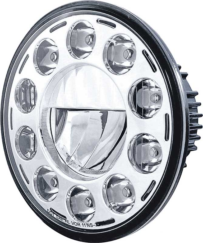 7 High Power 11 LED Crystal Headlight