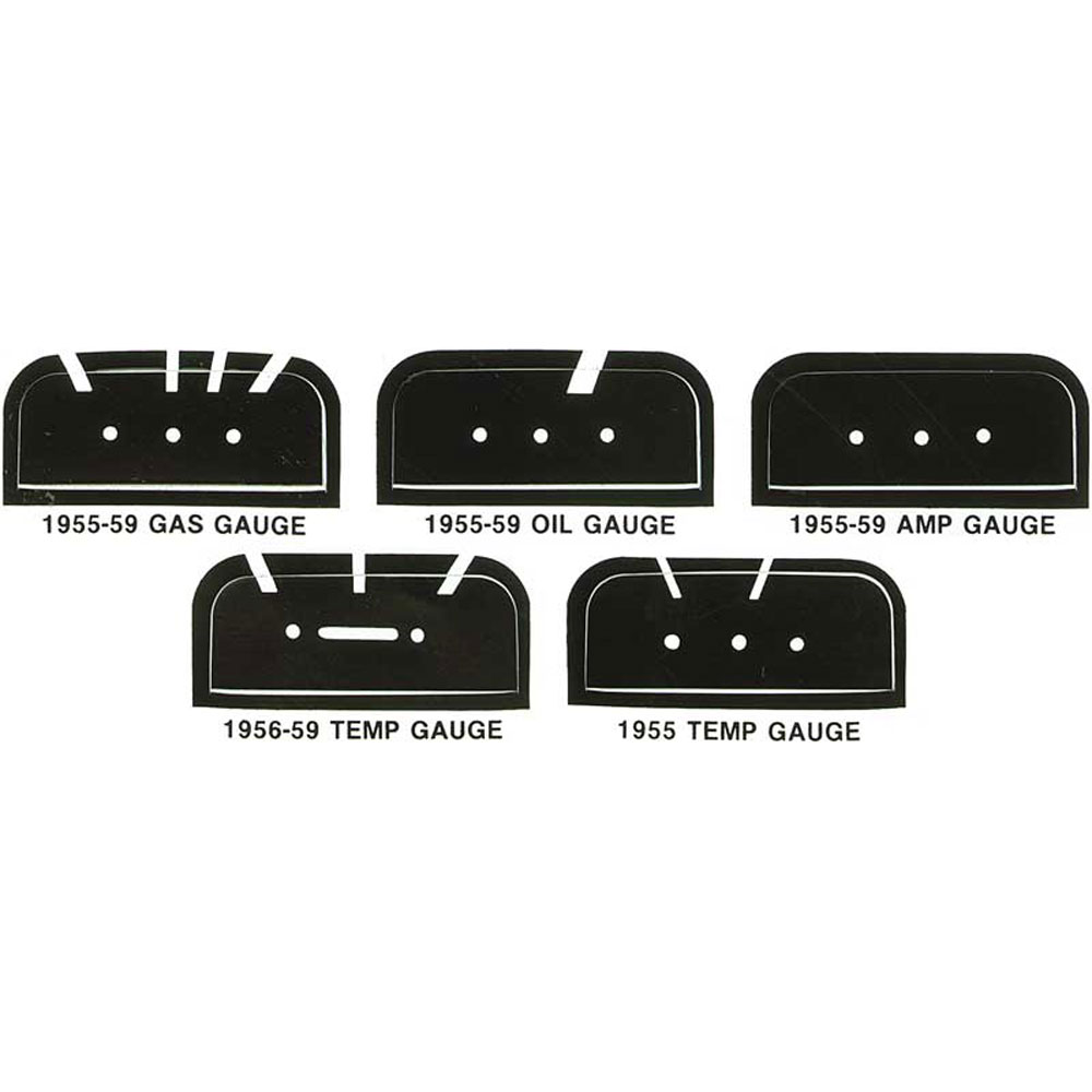 1955-59 Chevy Truck Gauge Face Decal Set