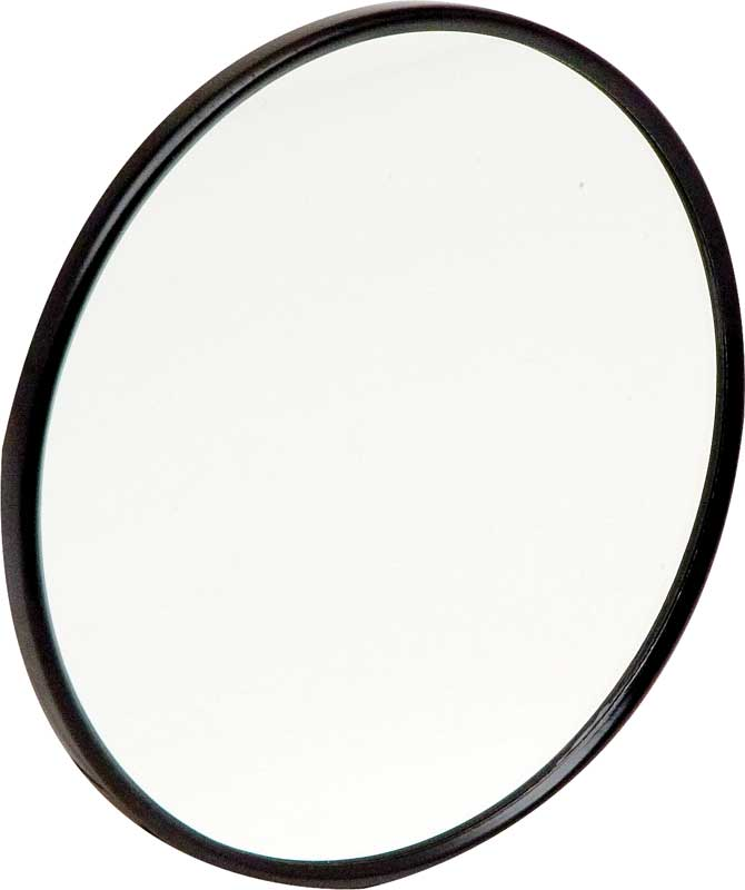 1947-72 GM Truck - Round Mirror Head With Smooth Backing - Black