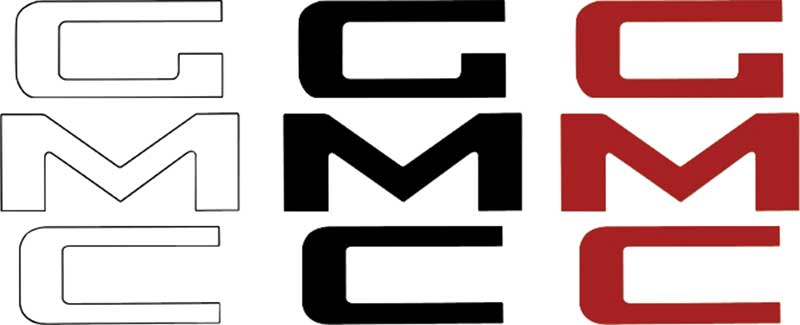 1967-87 GMC Stepside White Tailgate Letters