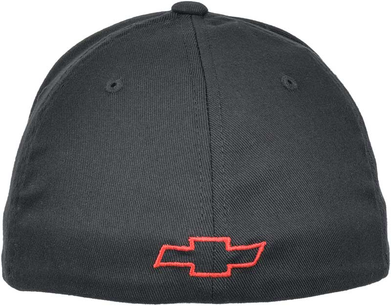 Dick Harrell Badge Flexfit Cap - Black With Red Bow Tie On Back - SIZE S-M