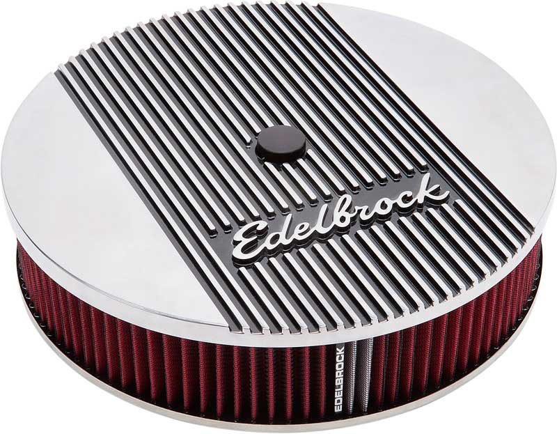 Edelbrock Elite II Series Deep Flange 14 Air Cleaner with Logo and 3 Element