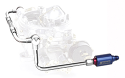 Edelbrock Thunder Series Dual Feed Fuel Line with Blue Filter