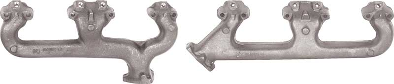 1969-74 Small Block Exhaust Manifolds With Smog Holes (Pair)