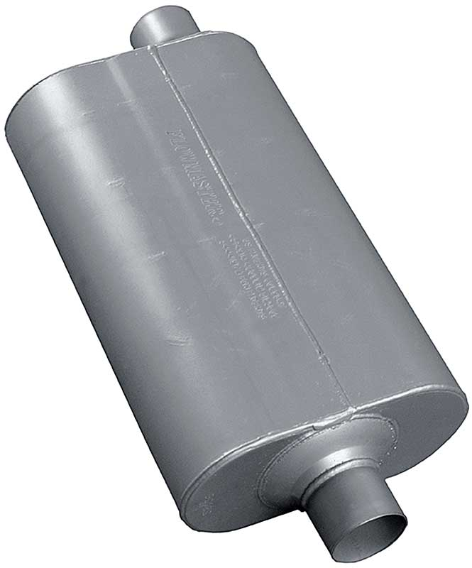 Flowmaster 70 Series Muffler - 22 Length With 2-1/2 Offset Inlet & 2-1/2 Center Outlet