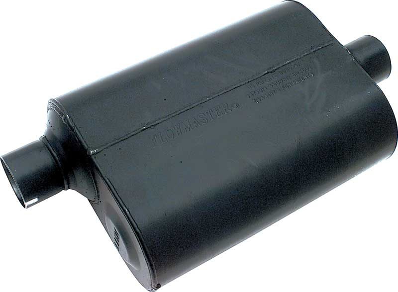 Flowmaster 13-1/2 Super 40 American Thunder Muffler With 2-1/2 Offset Inlet / 2-1/2 Center Outlet