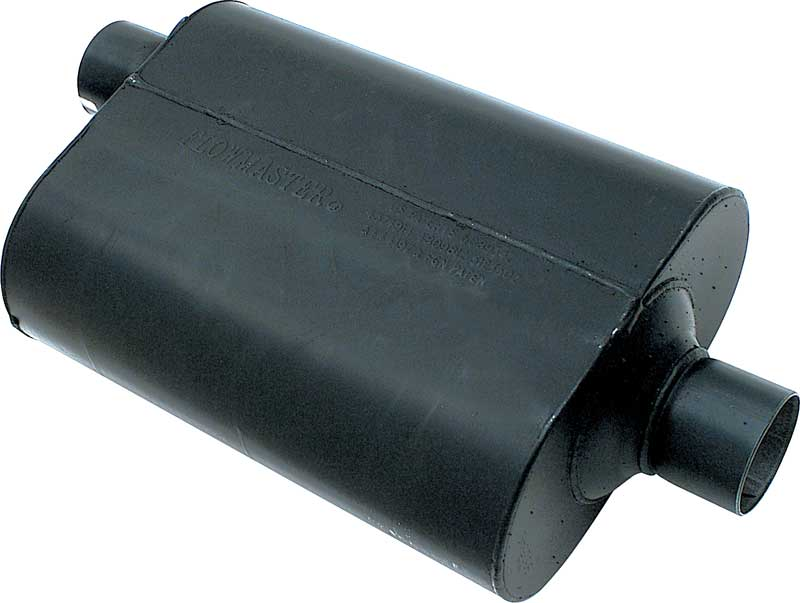 Flowmaster Super 40 Series Muffler with 2-1/2 Offset Inlet - 2-1/2 Center Outlet