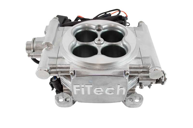 1965 Ford Mustang Parts | FF30001 | FiTech Go EFI 4 Self Tuning Fuel  Injection 600HP Tumbled Aluminum Finish - Basic Kit | Classic Industries