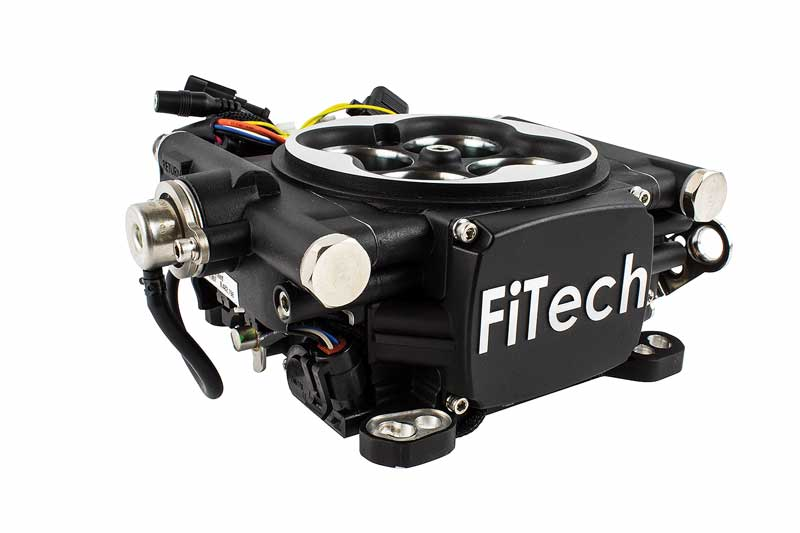 FiTech Go EFI 4 Self Tuning Fuel Injection 600HP Matte Black Finish - Basic Kit