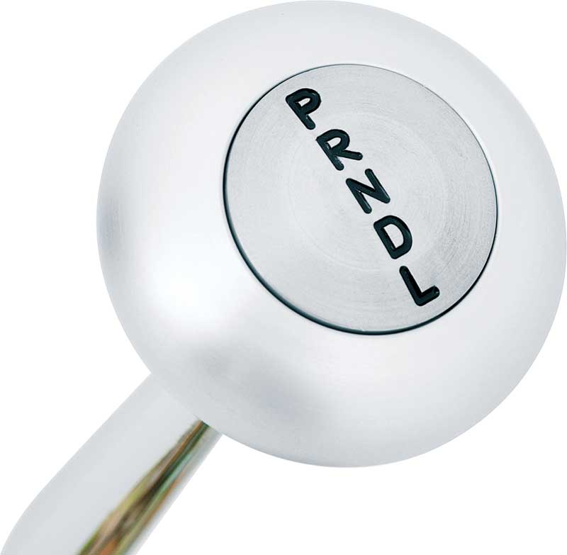 700-R4 Floor Mount Shifter with 8 Chrome Handle and Brushed Aluminum Mushroom Knob
