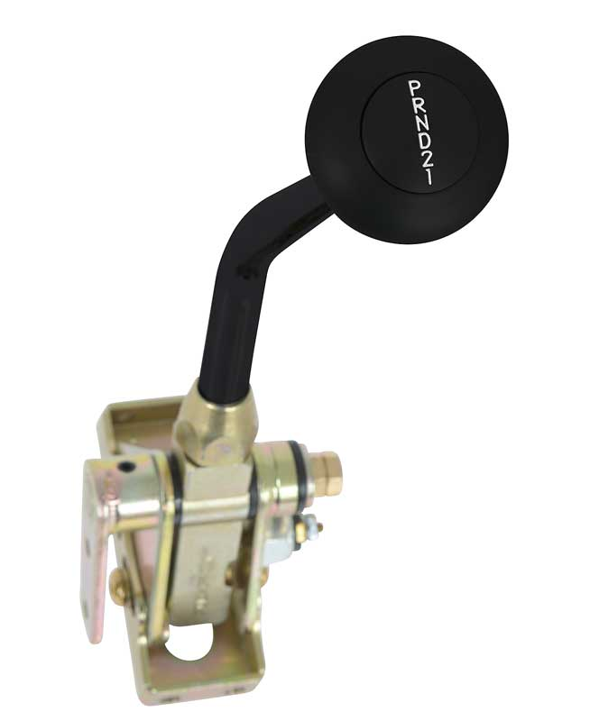 TH400 Floor Mount Shifter with 8 Black Handle and Black Anodized Mushroom Knob