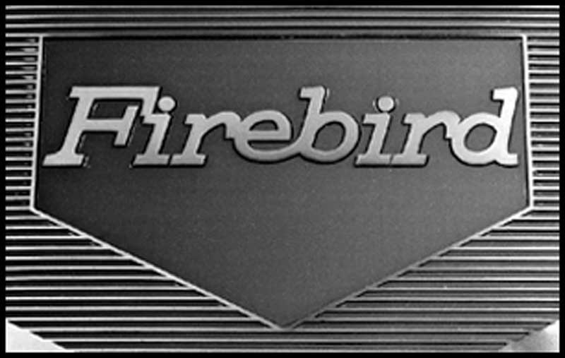 1975-81 Firebird Black Vinyl 4 Piece Floor Mat Set With Firebird Script