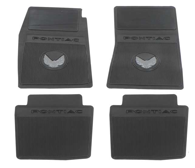 1970-72 Trans AM Black Reproduction Rubber Floor Mat Set