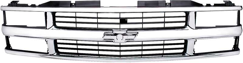 1994-00 Chevrolet Truck Grill - Dual Headlamps - Chrome