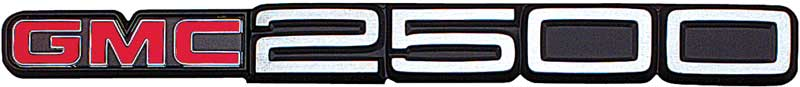 1988-00 GMC Truck with Body Side Molding GMC 2500 Front Door Emblem