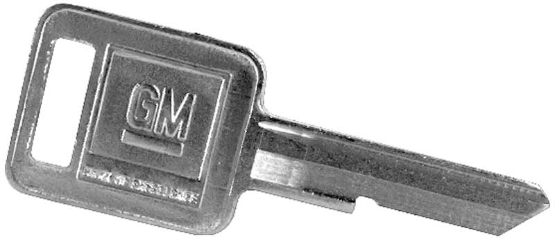 1962-79 GM Ignition Key Blank A Code (Late Style Key)