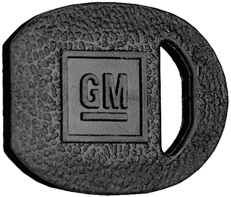 1969-92 Black Oval GM Trunk Key Cover