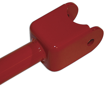 2010-15 Camaro Rear Trailing Arms With Spherical Rod Ends - Red (All Chrome Moly Construction)