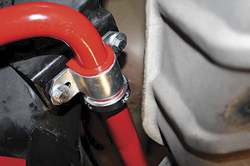 2010-12 Camaro Competition 32Mm Rear Sway Bar - Red (Solid Chrome Moly Steel) With End Links