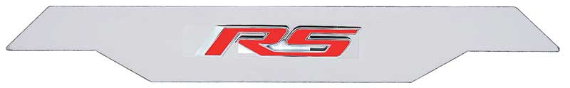 2010-15 Camaro RS Engine Cover Nameplate Stainless Steel Polished Red