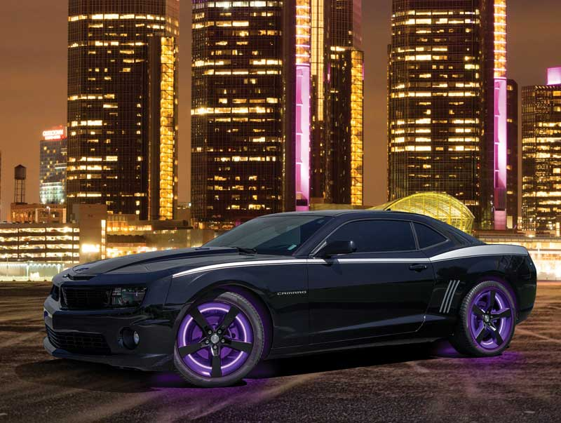 2010-17 Camaro Purple LED Illuminated Wheel Rings