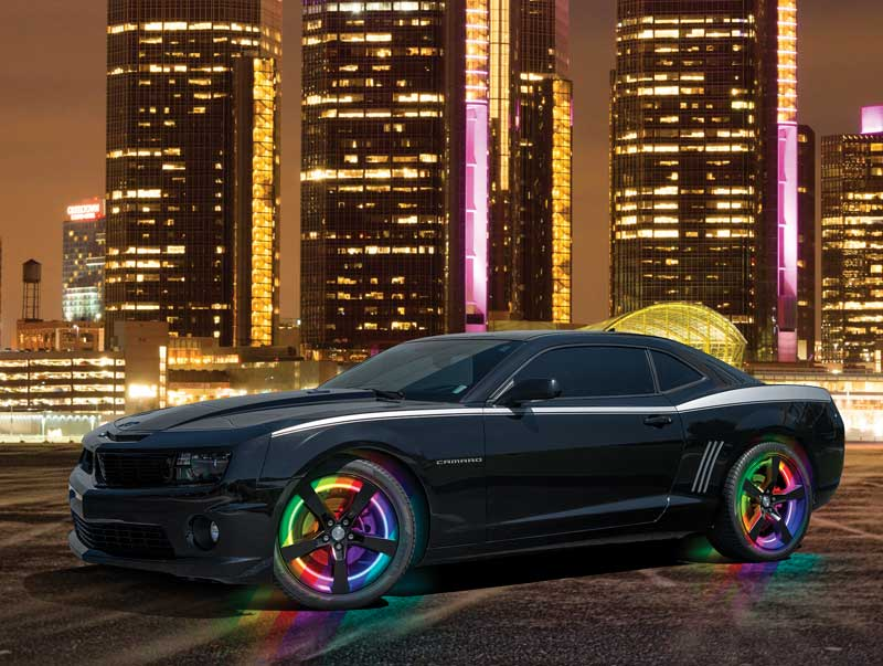 2010-17 Camaro LED Illuminated Wheel Rings with Color SHIFT Smart WiFi LED Controller