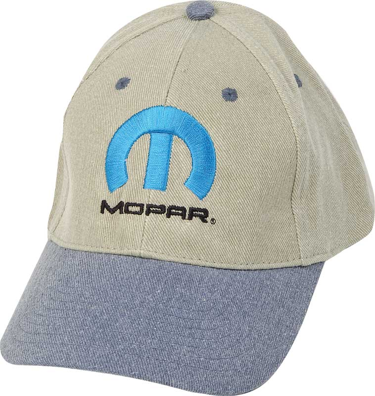 Mopar M Embroidered Khaki/Blue Low Profile Cotton Twill Cap