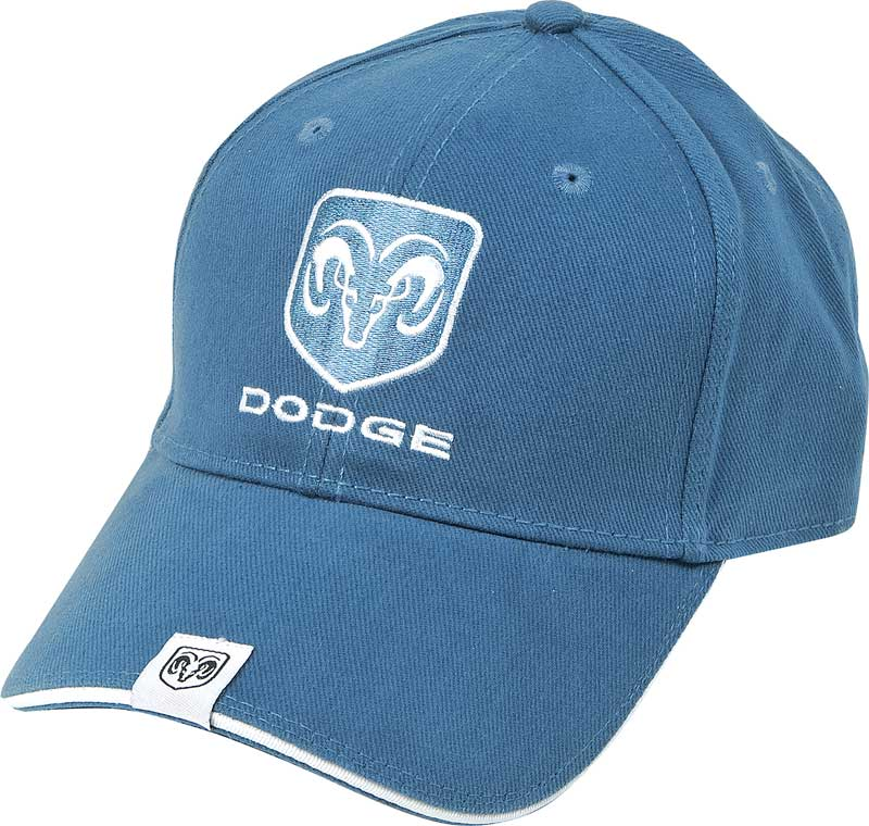 Dodge Ram Embroidered Blue Low Profile Cotton Twill Cap