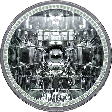 5-3/4 Oracle™ H4 Sealed Beam Headlamp with Green SMD Halo
