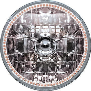 5-3/4 Oracle™ H4 Sealed Beam Headlamp with Amber SMD Halo
