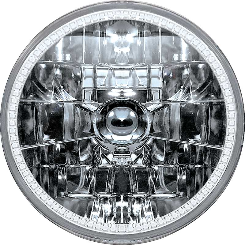 7 Oracle™ H4 Sealed Beam Headlamp with White SMD Halo