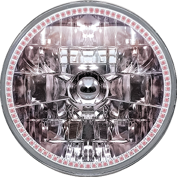 Oracle 7 H4 Sealed Beam Smd Halo Headlight - Red