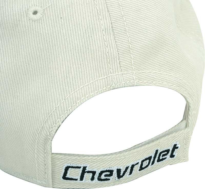 Chevrolet Bow Tie Cap Bone And Black