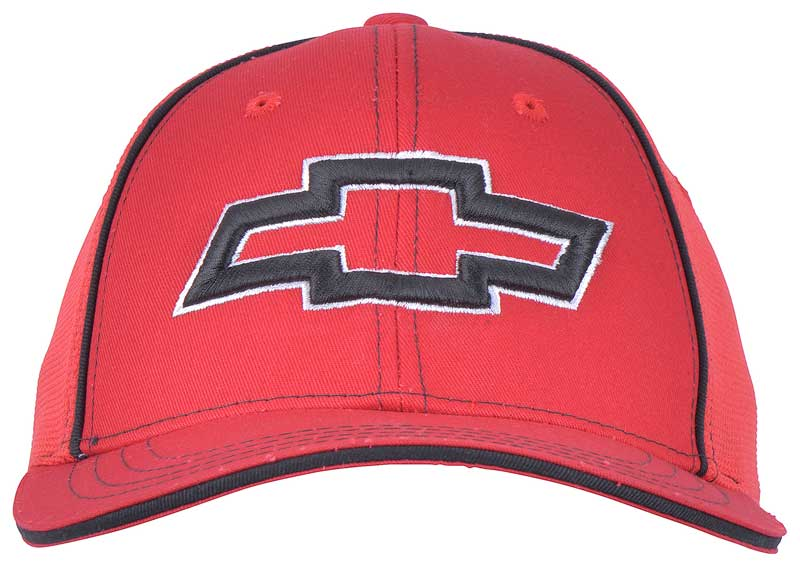 Chevy Bow Tie Flex Fit Cap - Red - Small/Medium