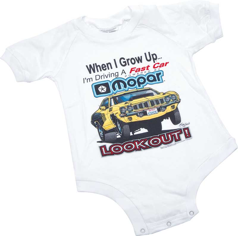 When I Grow Up Mopar With Hemi 'Cuda Kids 12 Month Onesie