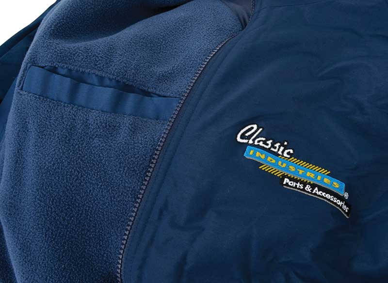 Classic Industries Navy Embroidered Lightweight Fleece Jacket - XX Large