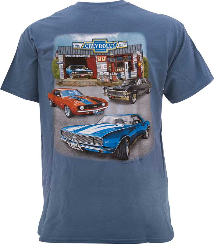 Super Chevrolet Service T-shirt - Indigo - X-Large