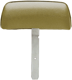 1969 Firebird Gold Headrest Assemblies with Curved Bar Bar