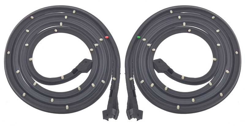 1961-62 GM Full-Size Door Frame Weatherstrip, 2-Door Hardtop, Convertible, Pair