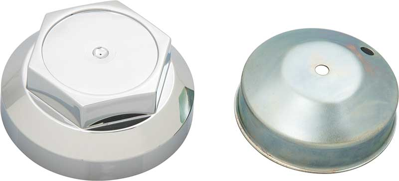 Hex Style 2 Piece Chrome Wheel Center Cap for Alloy Wheel with 2-1/2 Center Bore