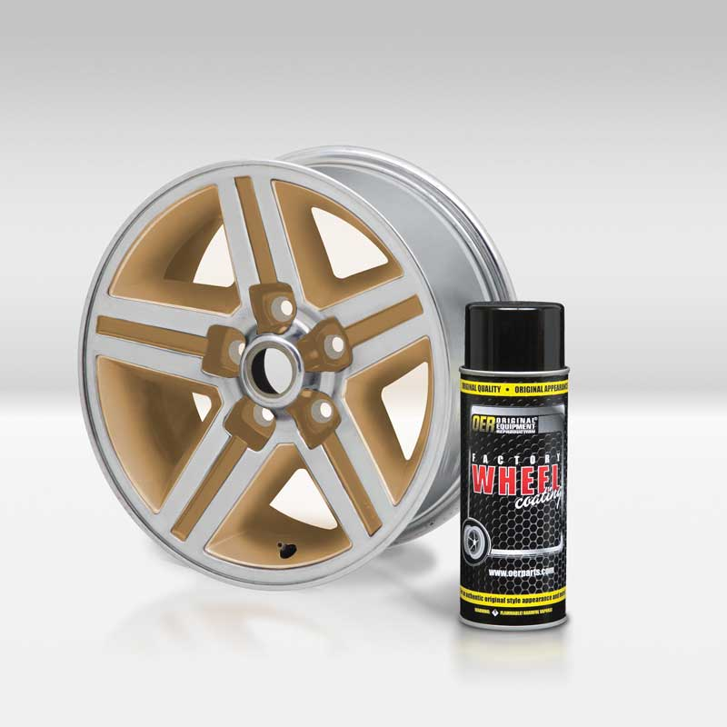 California Gold OER® Factory Wheel Coating Wheel Paint 16 Oz Can
