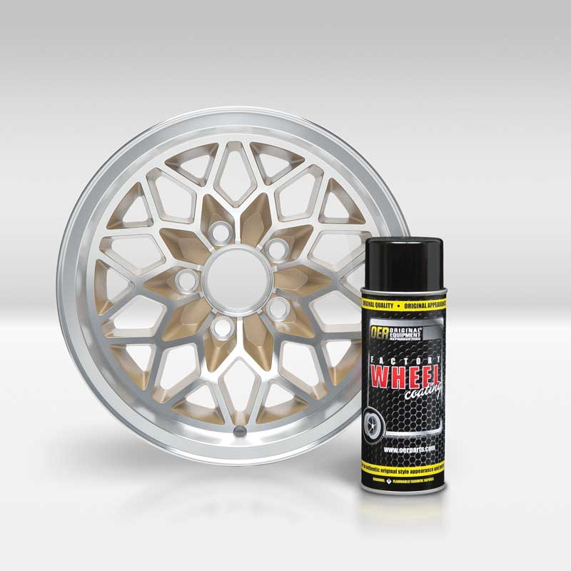 Placer Gold Snowflake Wheel OER® Factory Wheel Coating Wheel Paint 16 Oz Can