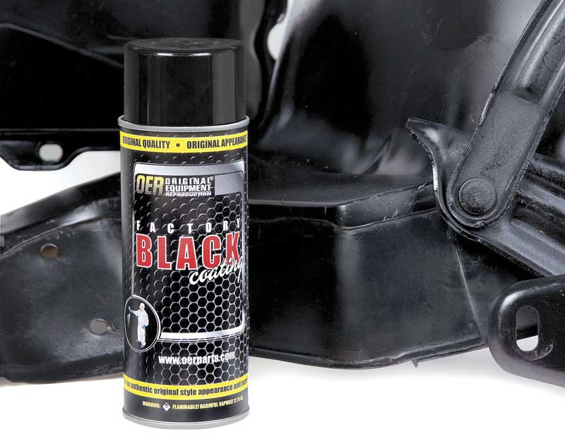 OER® Factory Black High Gloss Black Engine Paint - 16 Oz Aerosol Can