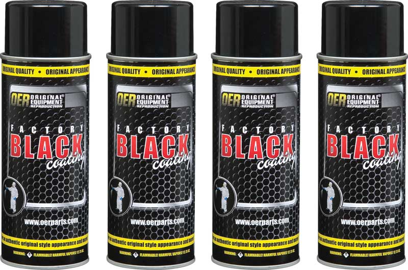 OER® Factory Black Coatings Set of Four 16 Oz Aerosol Cans