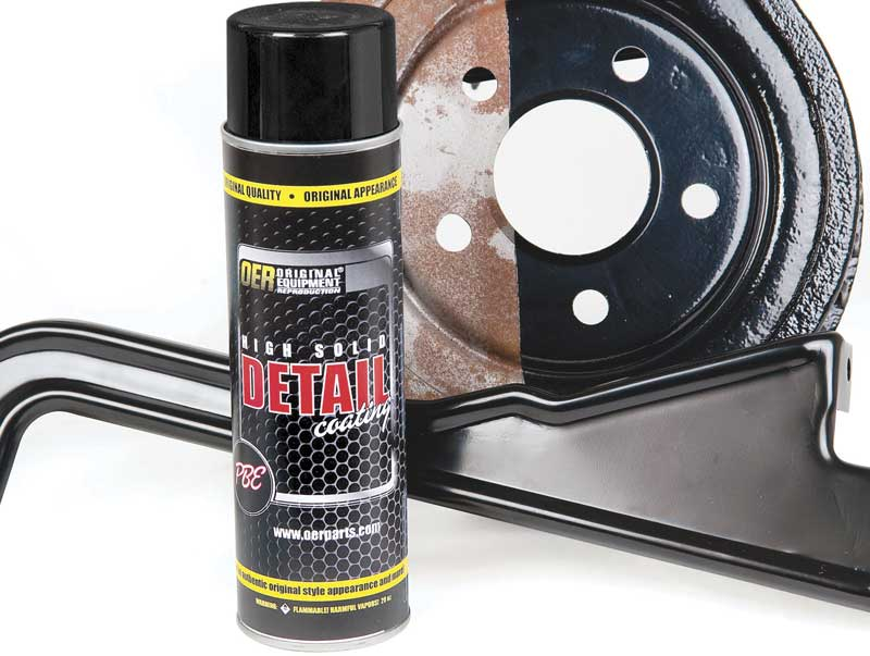 OER® Flat Black High Solids Detail Coating 20 Oz Aerosol Can