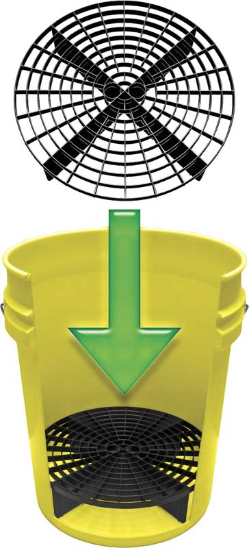Grit Guard 5 Gallon Yellow Bucket With Grit Guard